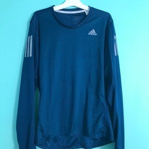 Adidas Blue Athletic Running Shirt